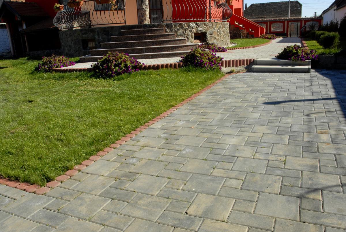Тротуарная плитка для частного дома